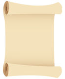 Brown paper scroll Stock Image