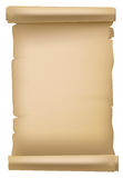 Brown paper scroll stock illustration