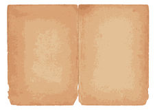 Brown paper scroll Royalty Free Stock Photography