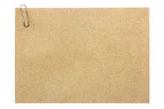 Brown paper sheet Stock Image