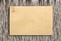 Brown paper sheet Royalty Free Stock Image