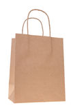 Brown paper shopping bag royalty free stock photography