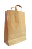 Brown paper shopping bag Royalty Free Stock Image