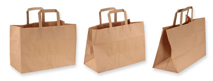 Brown paper shopping bags Royalty Free Stock Photos