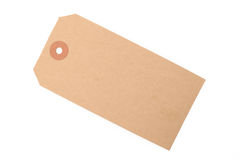 Brown paper tag Royalty Free Stock Images