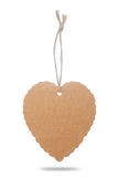 Brown paper tag Stock Photography