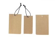 Brown paper tags Stock Image