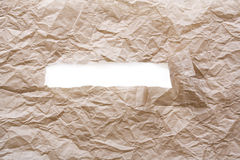 Brown paper torn Stock Photo