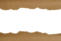 Brown paper torn Design Royalty Free Stock Images