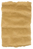 Brown Paper Torn edges. Brown handmade paper with torn edges stock images