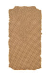Brown paper with torn edges Royalty Free Stock Images