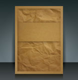 Brown paper vector brochure cover. Royalty Free Stock Photos