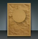 Brown paper vector brochure cover. Stock Images