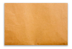 Brown paper on white background Royalty Free Stock Photography