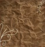 Brown paper white dots swirls background Royalty Free Stock Photos