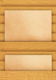 Brown paper on wood Stock Images