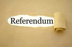 Paper work with referendum stock photography