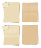 Brown Papers Stock Photos