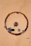 Brown papier z kawową plamą Fotografia Royalty Free