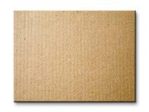 Brown-Papierkartenvorstand getrennt Stockfotografie