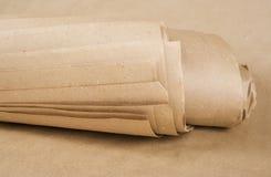 Brown-Papierkraftpapier-Rolle Stockfotos