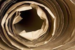 Brown-Papierkraftpapier-Rolle Stockfoto