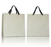 Brown papierowa torba na białym tle fotografia royalty free