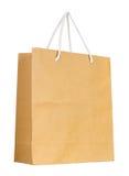 Brown papierowa torba odizolowywająca na bielu obrazy stock
