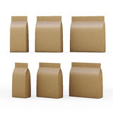 Brown papierowa torba pakuje dla ogólnych produktów z ścinku klepnięciem ilustracja wektor