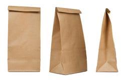 Brown papierowej torby set Zdjęcia Stock