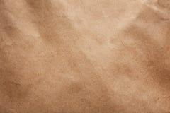 Brown papierowej torby tekstura jako tło obrazy stock