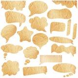 Brown-Papierspracheluftblasen Lizenzfreie Stockbilder