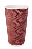 Brown-Papiertasse kaffee oder Teenahaufnahme lokalisiert auf weißem Hintergrund Lizenzfreie Stockbilder