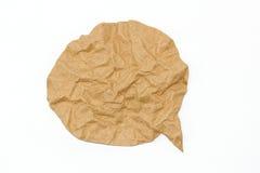 Brown papieru bąbel na białym tle zdjęcie stock