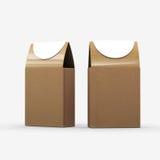 Brown papieru jedzenia pudełkowaty pakować z ścinek ścieżką royalty ilustracja