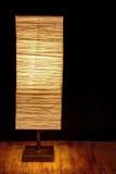 Brown papieru lampa odizolowywająca Zdjęcia Stock