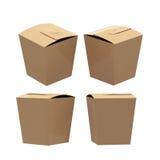 Brown papieru taper kwadrata klamry ciastka motyli pudełko z clipp royalty ilustracja