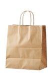 Brown papieru torba na zakupy Fotografia Stock