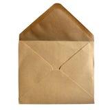 Brown-Papierumschlag Stockfotos