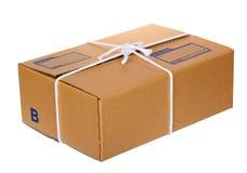 Brown-Papppostkasten Lizenzfreies Stockbild