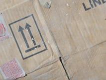 Brown-Pappschachteln vom alten Stockfoto