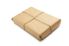 Brown Parcel Royalty Free Stock Photo