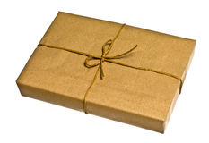 Brown parcel Royalty Free Stock Images