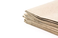 Brown parcel paper folder up Royalty Free Stock Photos