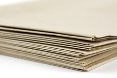 Brown parcel paper folder up Royalty Free Stock Photo