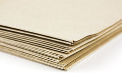 Brown parcel paper folder up Stock Photo