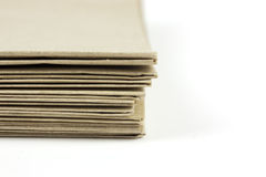 Brown parcel paper folder up Stock Photos