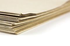 Brown parcel paper folder up Royalty Free Stock Photography