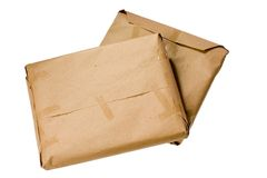 Brown parcels Stock Photo