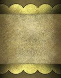 Brown parchment background. Warm brown and gold background with old parchment framed with gold lace edges design along border with dark brown color background royalty free illustration